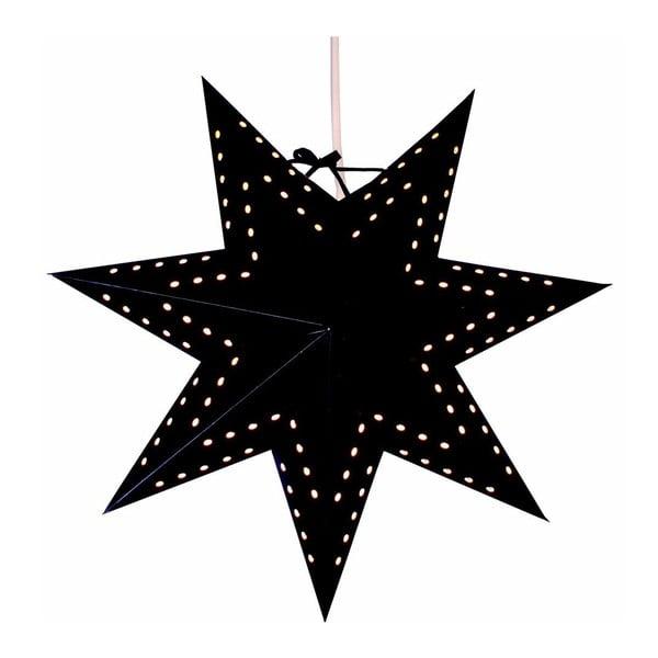 Závěsná svítící hvězda Bobo Black, 34 cm