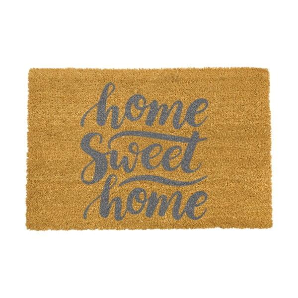 Covoraș intrare din fibre de cocos Artsy Doormats Home Sweet Home Grey, 40 x 60 cm