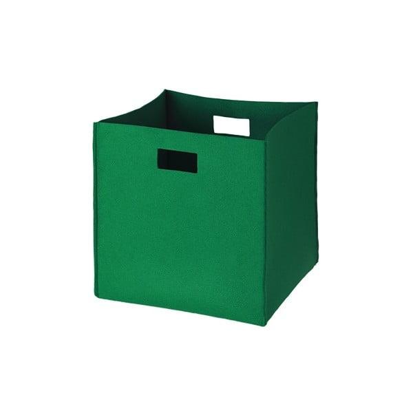 Plstěná krabice 36x35 cm, zelená
