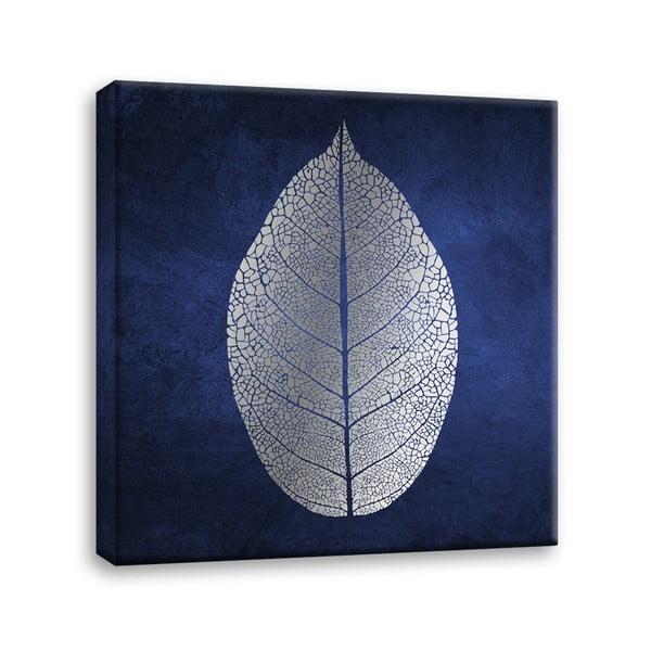 Canvas Silver Uno White Leaf kép, 60 x 60 cm - Styler