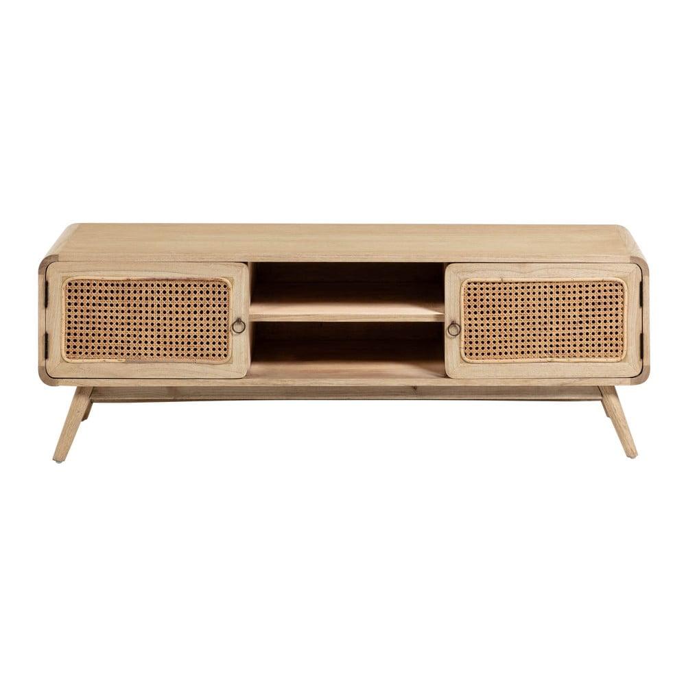 Světle hnědý TV stolek La Forma Nalu, 150 x 50 cm