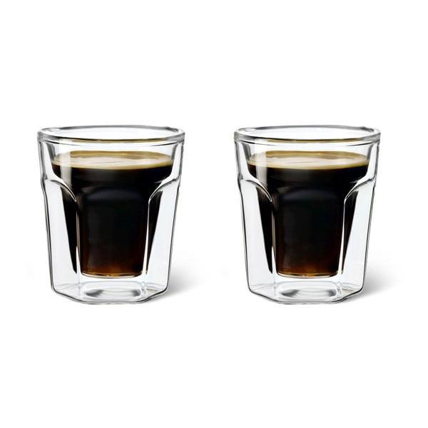 Sada 2 dvoustěnných sklenic Leopold Vienna Espresso, 100 ml