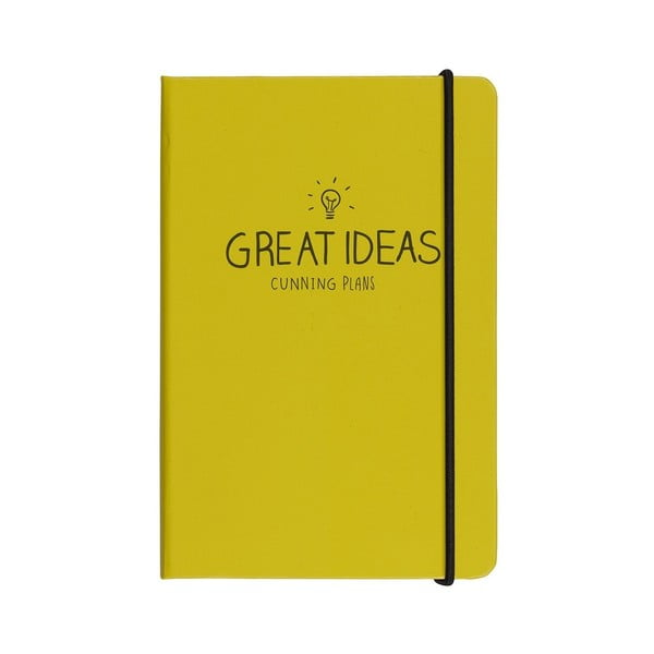 Blocnotes A6 Happy Jackson Great Ideas Yellow