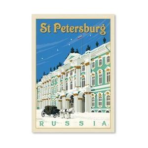 Plakát Americanflat St. Petersburg, 42 x 30 cm