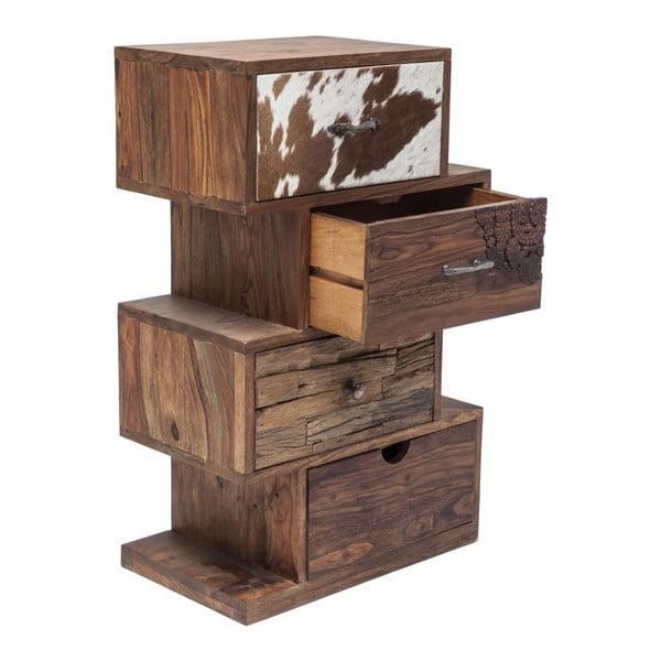 Komoda ze dřeva sheesham se 4 zásuvkami Kare Design Rodeo ZickZack