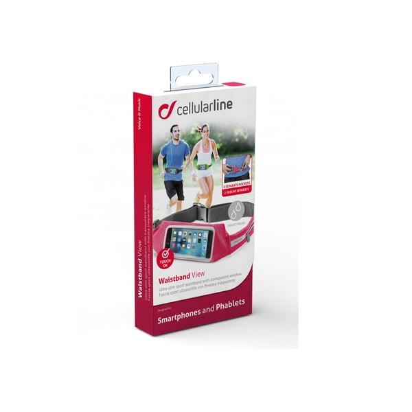 Sportovní pouzdro CellularLine WAISTBAND, růžová