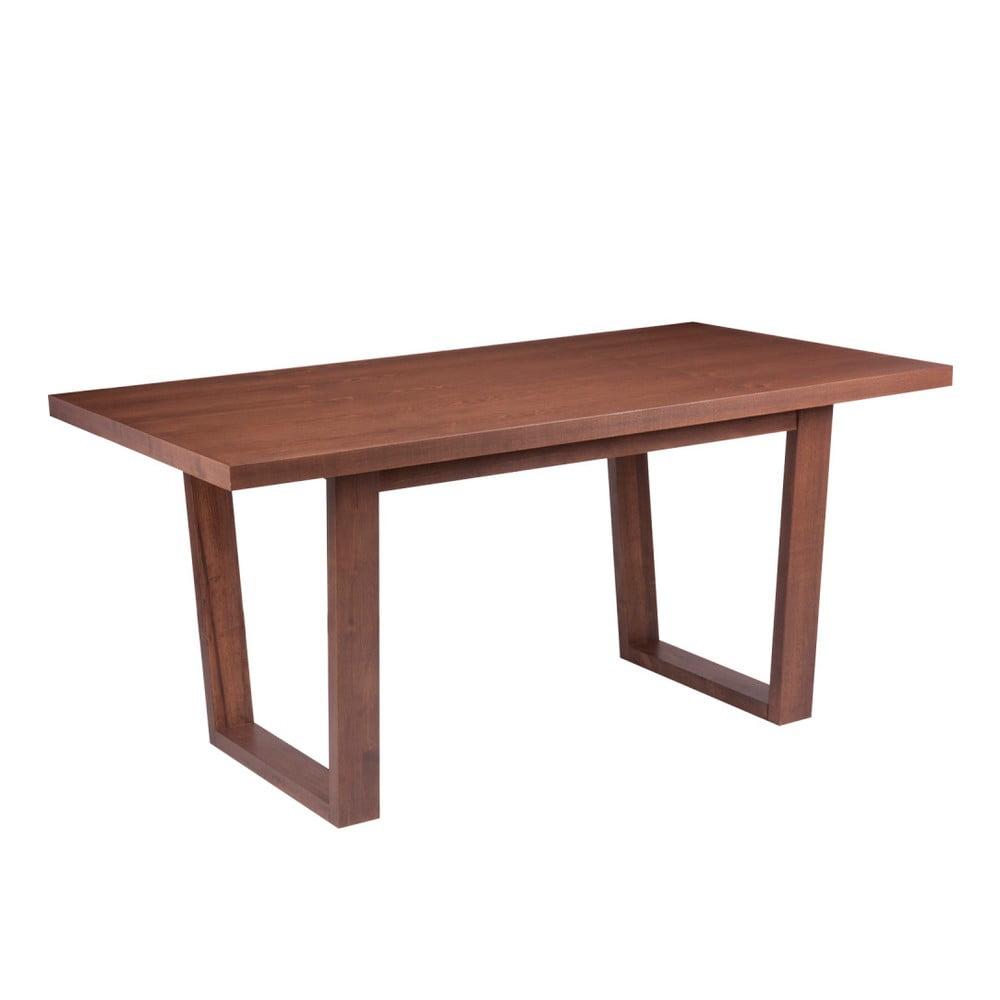 Jídelní stůl v dekoru ořechového dřeva sømcasa Amber, 160 x 90 cm