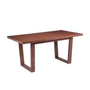 Jídelní stůl v dekoru ořechového dřeva sømcasa Amber, 160x90cm