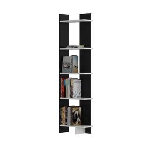 Černá knihovna s bílými detaily Als Black White