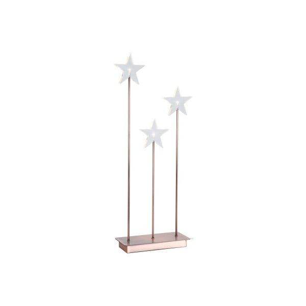 Svítící hvězdy se stojanem Best Season Trio Star Copper
