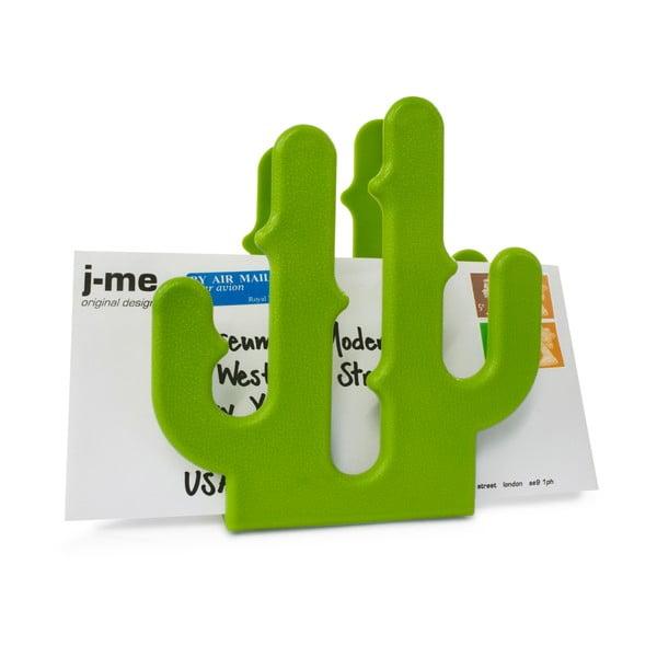 Zelený stojánek na dopis J-Me Cactus