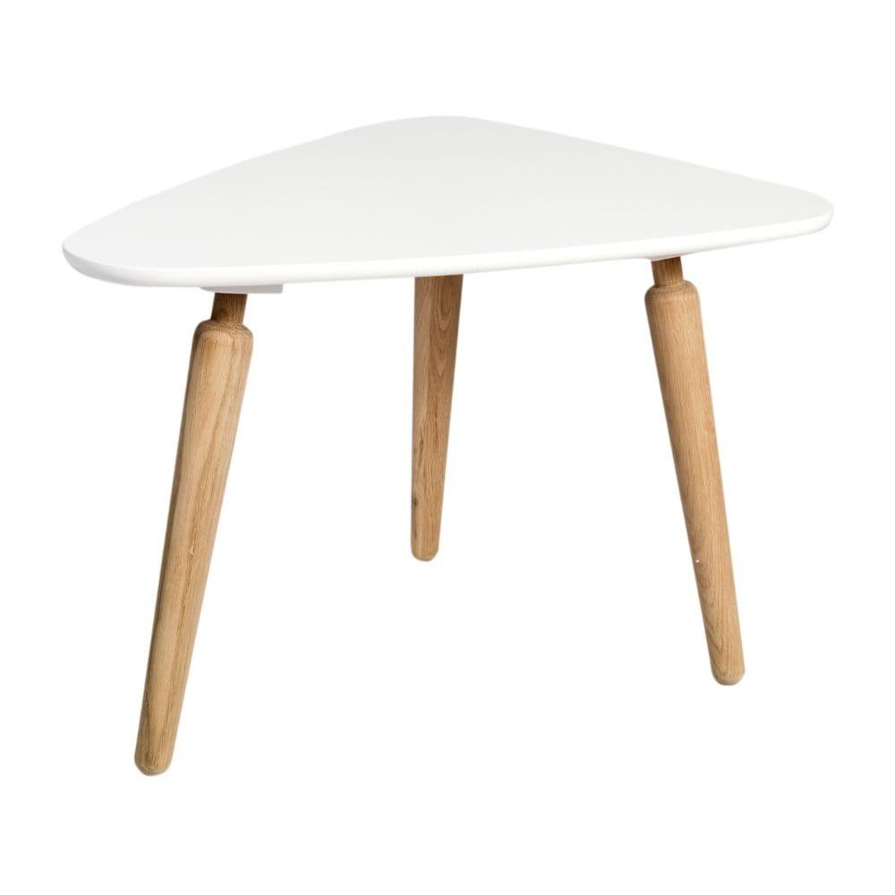 Konferenční stolek s bílou deskou z dubového dřeva Folke Cappuccino, výška 53x45x67cm