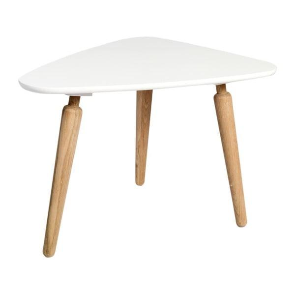Konferenční stolek s bílou deskou z dubového dřeva Folke Cappuccino, výška 53x50x67cm