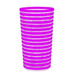 Sklenice Swirl 360 ml, fuchsiová