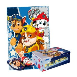Set dětských bačkor a přikrývky v plechové krabici InnovaGoods, velikost 30 - 31