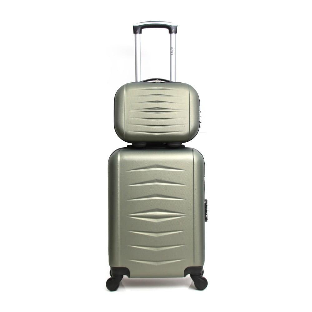 Sada 2 zelených cestovních kufrů na kolečkách Infinitif Oviedo