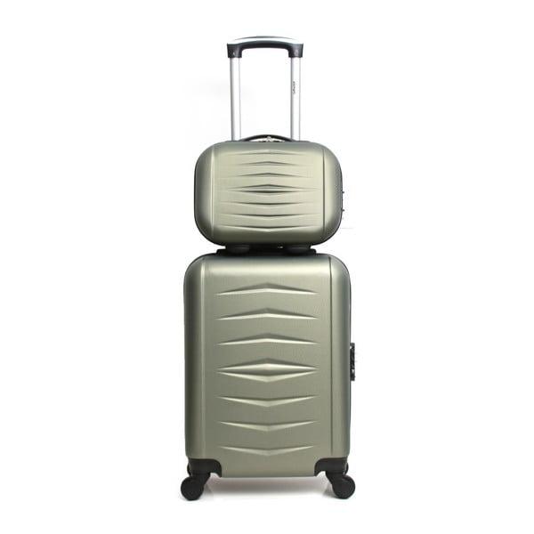 Sada 2 zelených cestovných kufrov na kolieskach Infinitif Oviedo
