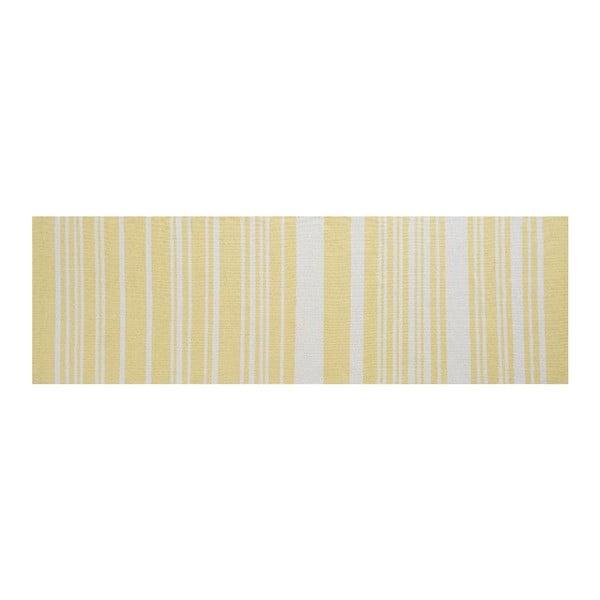 Bavlněný koberec Glorious, 80x250 cm, žlutý