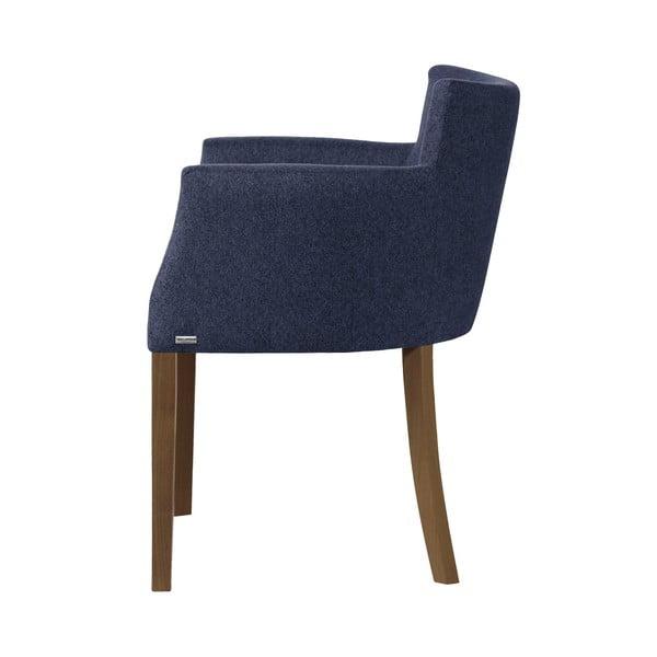 Scaun din lemn de fag cu picioare maro închis Ted Lapidus Maison Santal, albastru închis