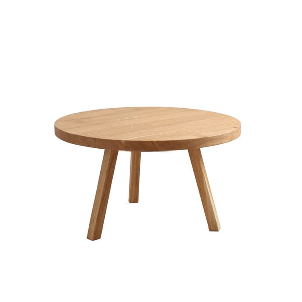 Konferenční stolek z dubového masivu Custom Form Treben, ø 80cm