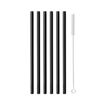 Set 6 paie din sticlă Vialli Design, lungime 20 cm, negru imagine