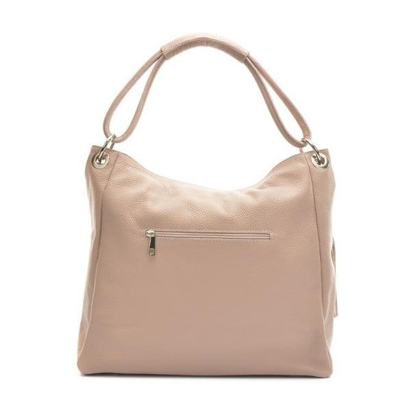Pudrově růžová kožená kabelka AnnaLuchini Magdana