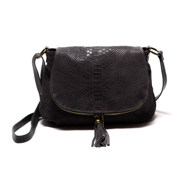 Černá kožená kabelka Roberta M Rosetta