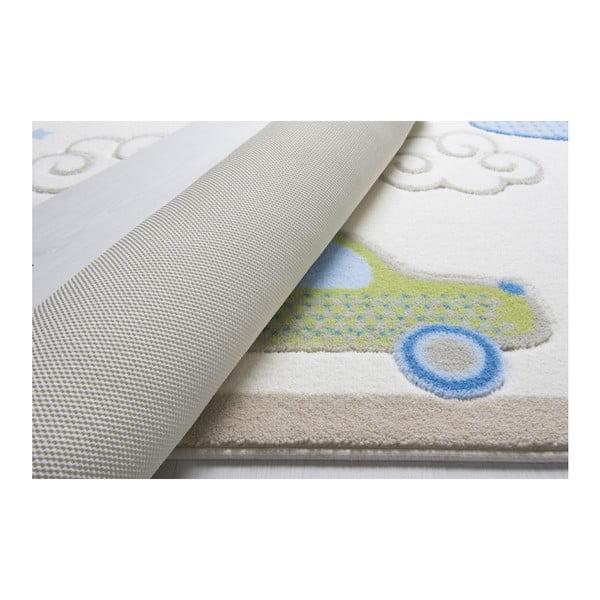 Dětský bílý koberec Confetti Baby Road, 133x190cm