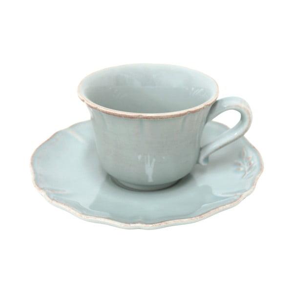Keramický šálek na čaj s podšálkem Alentejo 220 ml, tyrkysový
