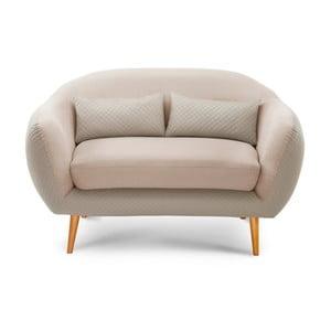 Canapea pentru 2 persoane Scandi by Stella Cadente Maison Meteore, crem