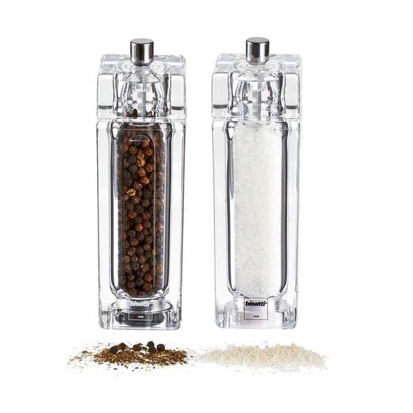 Sada 2 mlýnků na sůl a pepř Pepper&Salt, 14.5 cm