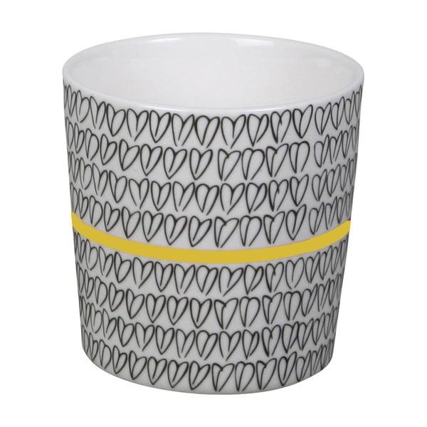 Šálek Charity mugs žlutý, set 6ks