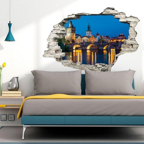 Autocolant perete 3D Ambiance Praga Night, 90 x 60 cm