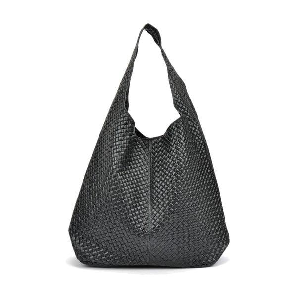 Černá kožená kabelka Mangotti Bags Barbara