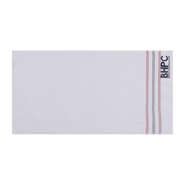 Sada dvou bílých ručníků Beverly Hills Polo Club Stripes, 90x50 cm