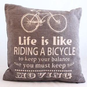 Návlek na polštář Bicycle, tmavý, 40x40 cm