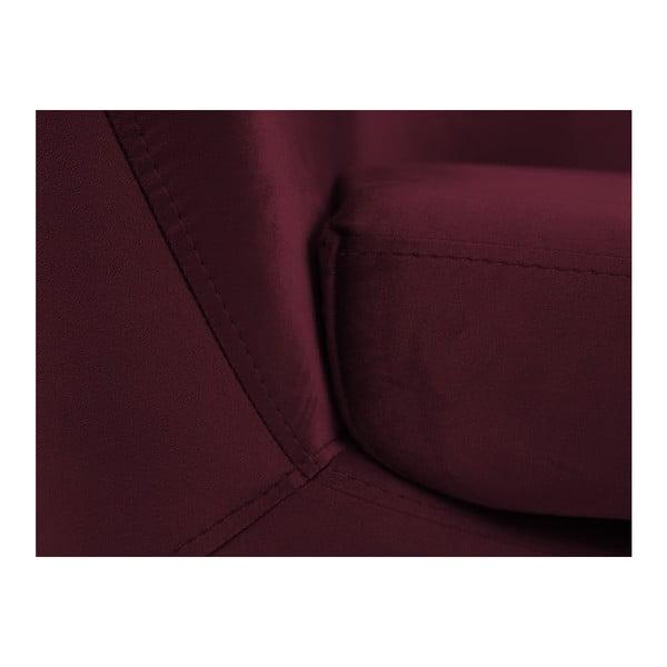 Vínově červené křeslo s černými nohami Mazzini Sofas Amelie