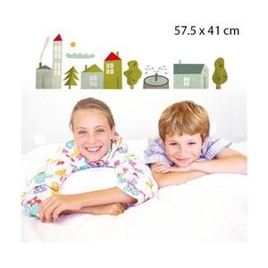 Samolepka Village 57,5x41 cm
