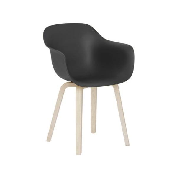 Černá jídelní židle s područkami Magis Substance