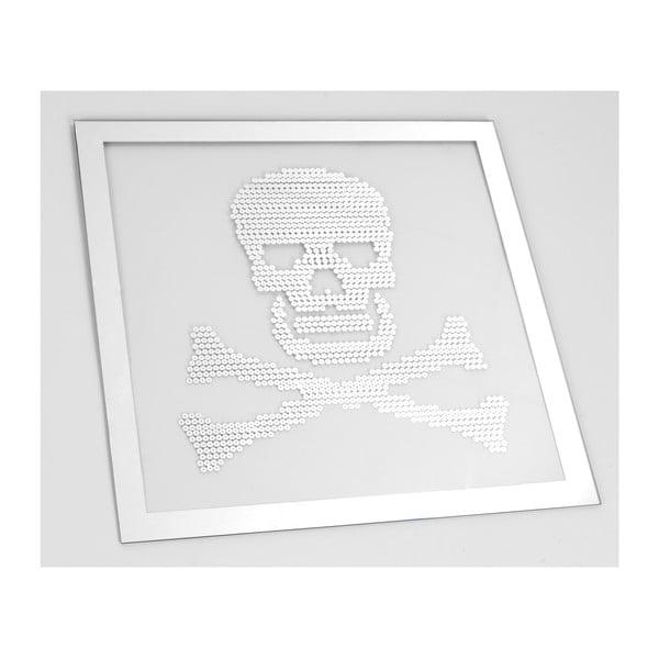 Zrcadlo Skull, 50x50 cm