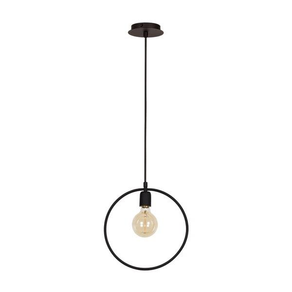 Černé závěsné svítidlo Round