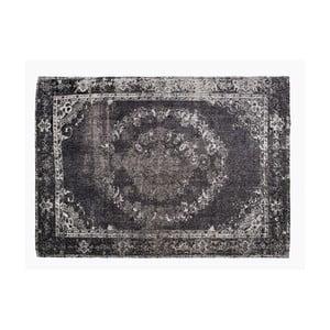 Černý koberec s příměsí bavlny Cotex Korfu, 140 x 200 cm