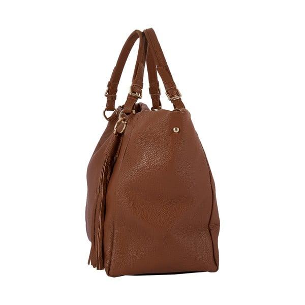 Hnědá kabelka z pravé kůže Andrea Cardone Gemma Star