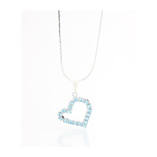 Colier Swarovski Elements Laura Bruni Crystal Heart Sapphire