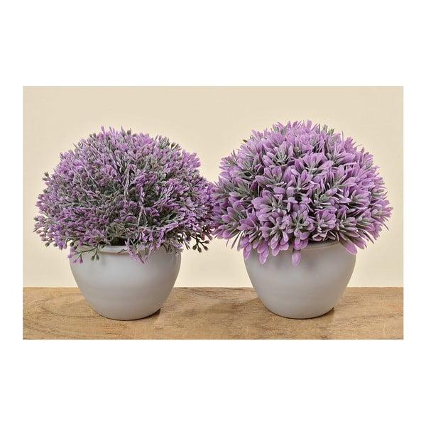 Sada 2 umělých levandulí v květináči Lavender