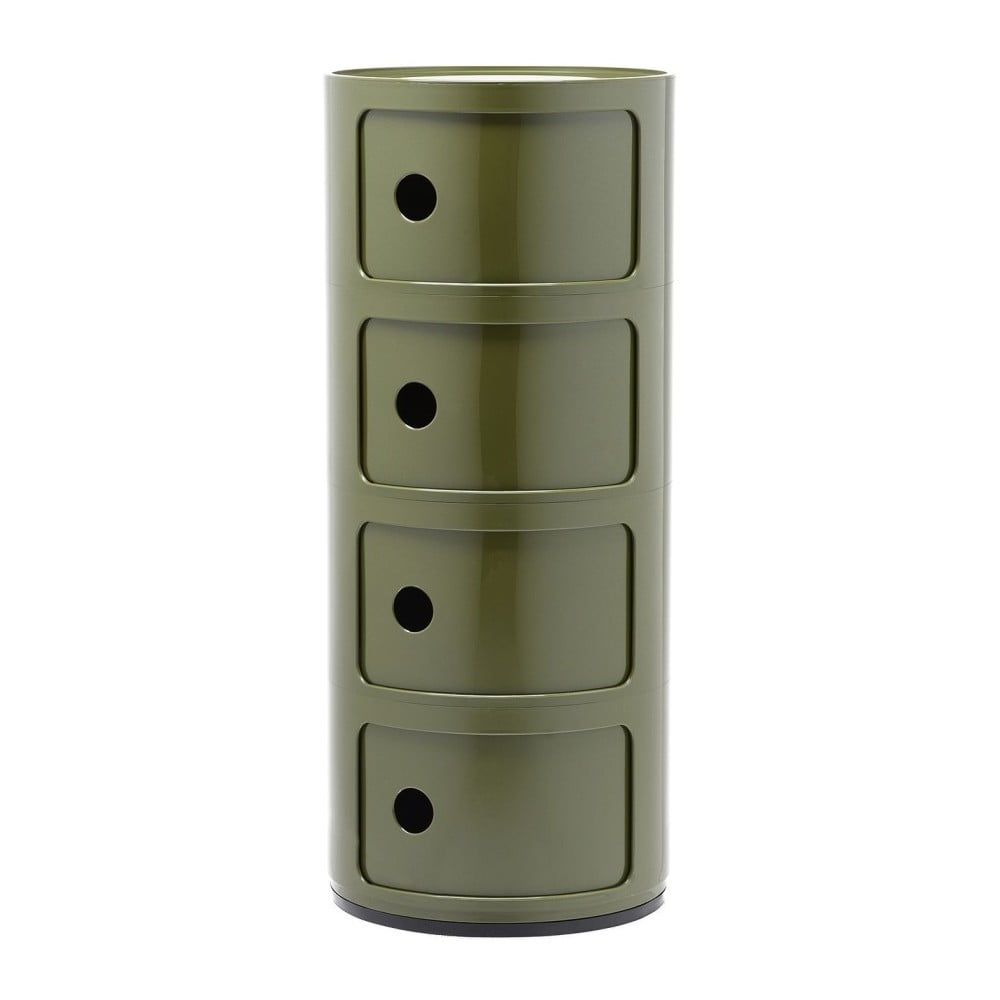 Zelený kontejner se 4 zásuvkami Kartell Componibili