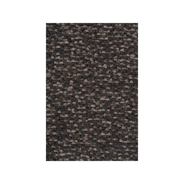 Vlněný koberec Crush Charcoal, 140x200 cm