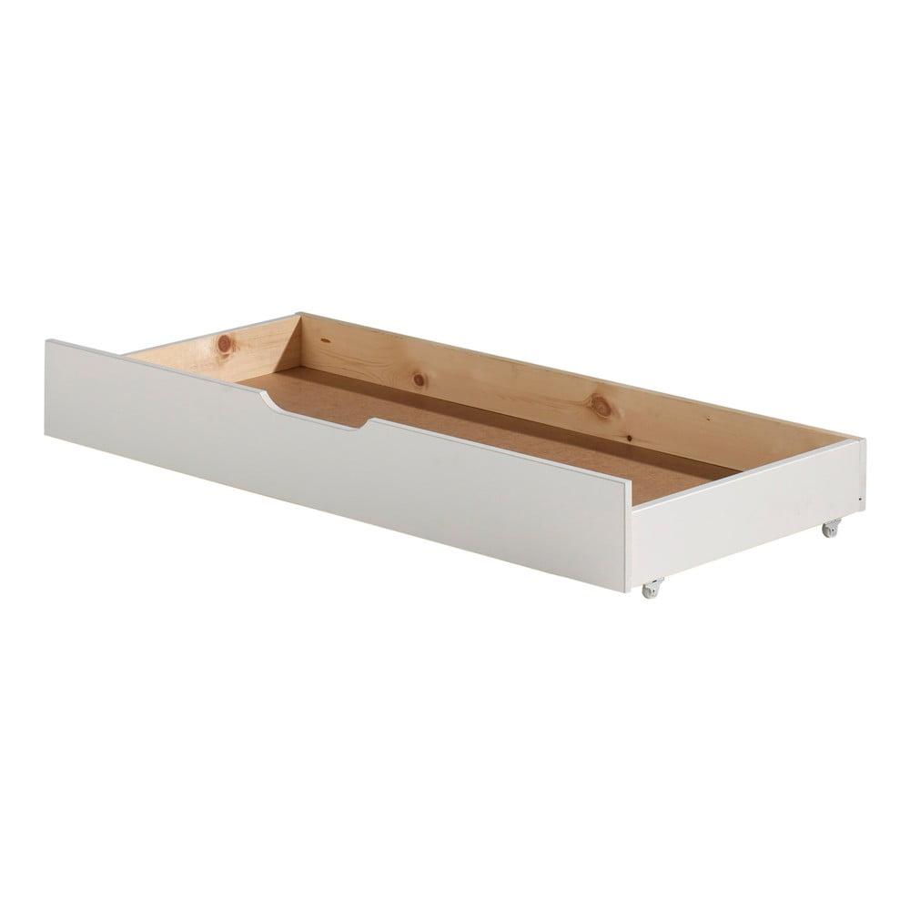 Bílý úložný systém pod postel Jumper Vipack White, šířka 130 cm