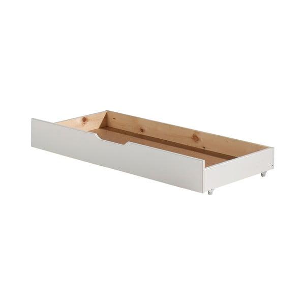 Biała szuflada pod łóżko Jumper Vipack White, szer. 130 cm