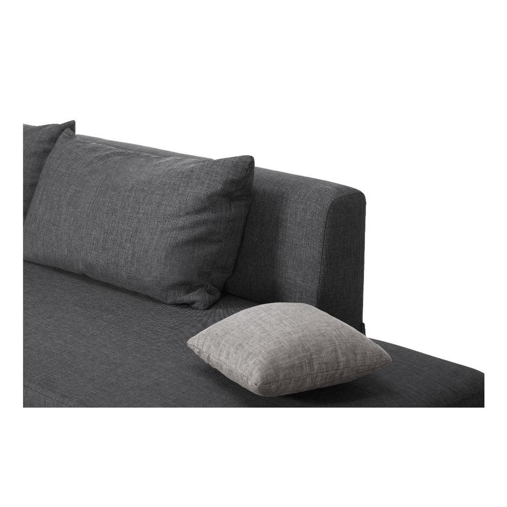 canapea extensibil modernist pashmina partea st ng antracit bonami. Black Bedroom Furniture Sets. Home Design Ideas